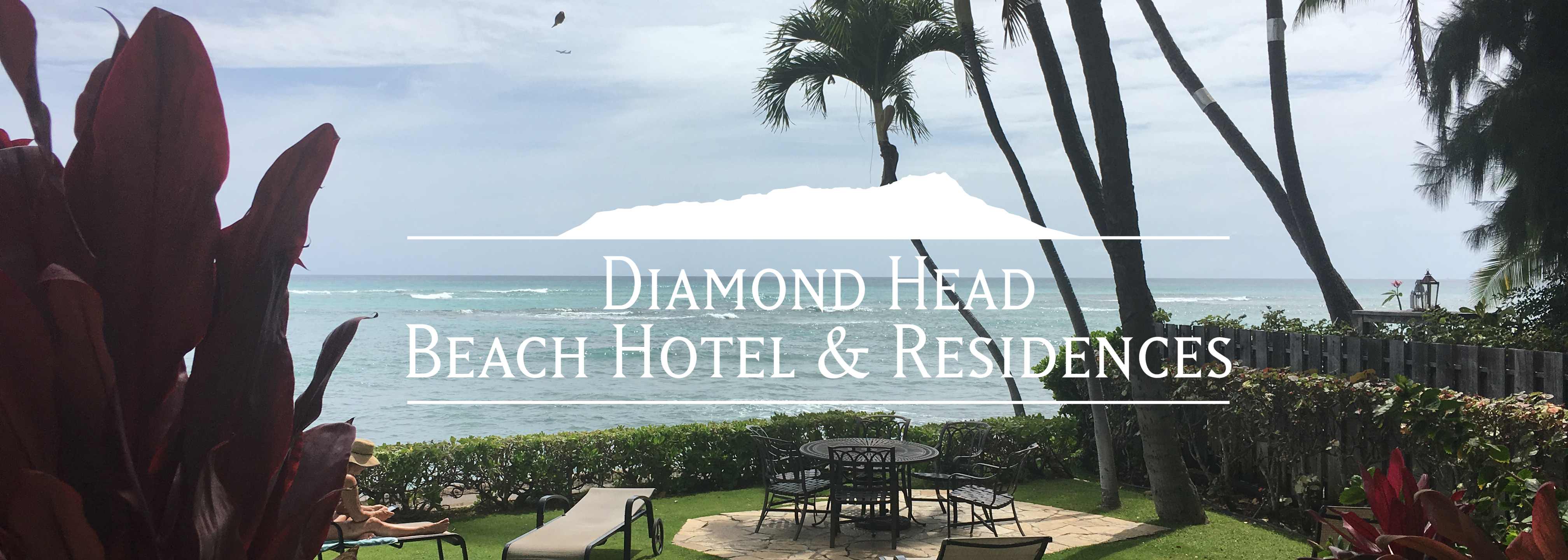 Beautiful Oceanfront Gardens of the Diamond Head Beach Hotel - Honolulu.